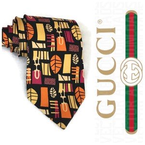 Gucci Multi Color Luxury Gg Geometric Silk Tie/Bowtie