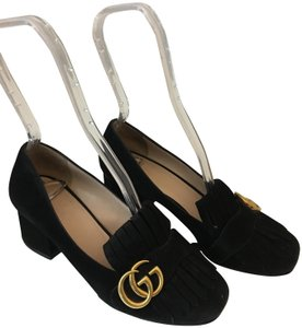 51f36ec4141 Gucci Marmont Kiltie Gg Fringe Loafer Black Pumps