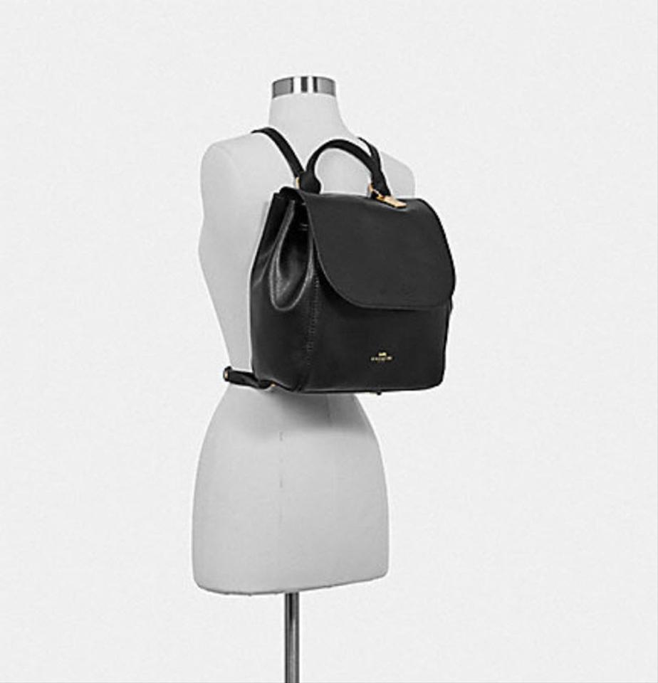 Coach Large Derby Leather Backpack F38556 in Black