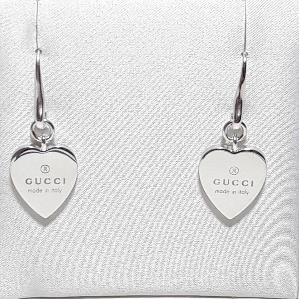 aad11b6cd Gucci Authentic Gucci trademark heart drop earrings Image 0 ...
