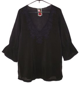 Johnny Was Cupra Rayon Embroidered Tunic