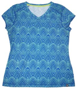 Title nine Matahari Knit Stretch T Shirt Blue