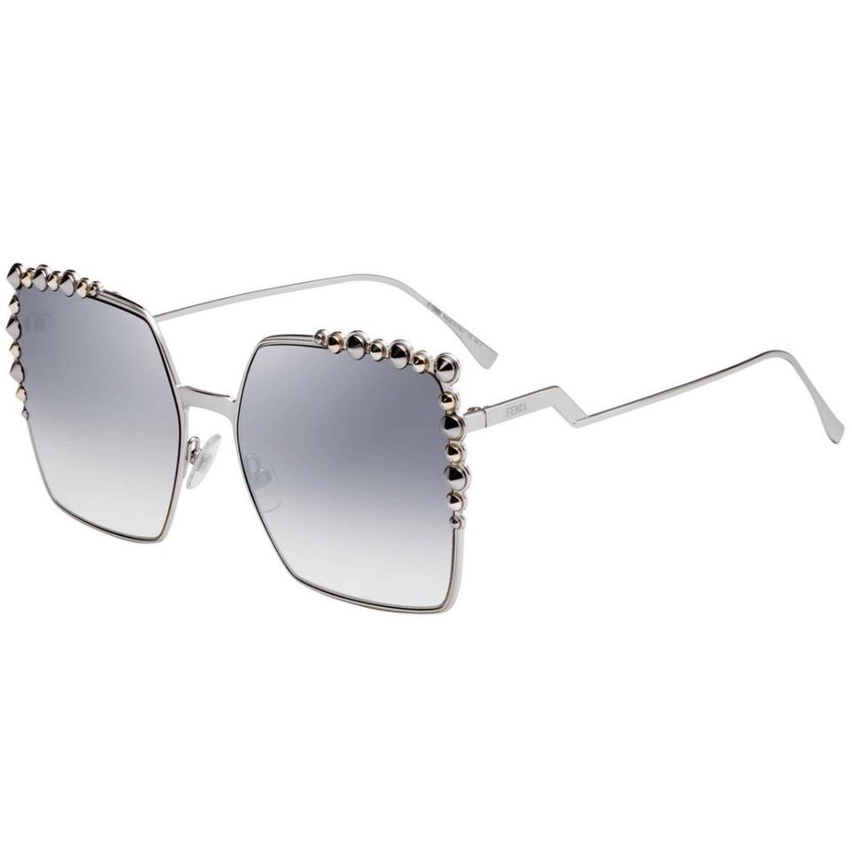 89dade4ed5 Fendi Silver Palladium Can Eye Ff0259s Oversized Square Studded ...