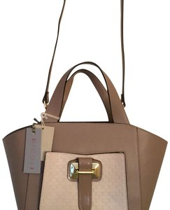 NICOLI Satchel in Beige and Ivory