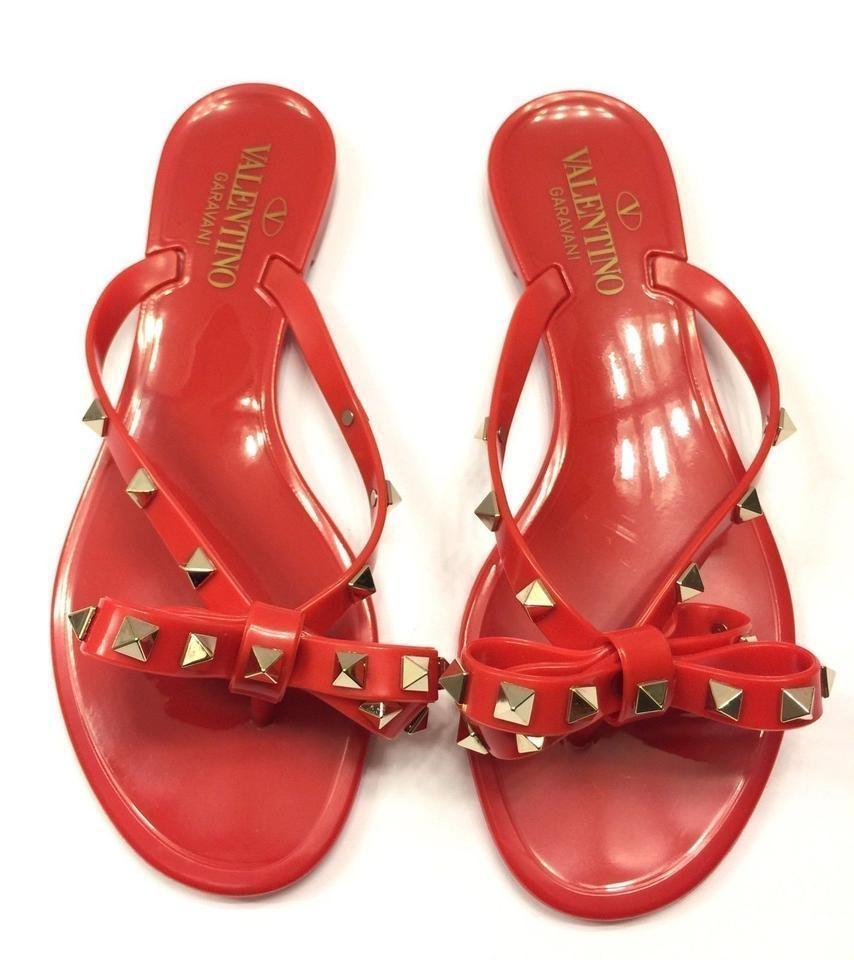 bf3782fc5c05 Valentino Chanel Flip Flops Chanel Flats Chanel Camellia Chanel Chanel  Slides Red Sandals Image 0 ...