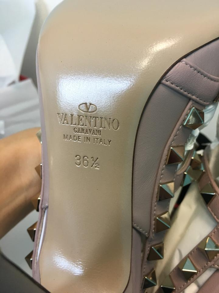 7656dcccf0c3 Valentino Classic Classic Rockstud Heels Poudre Nude Pumps Image 10.  1234567891011