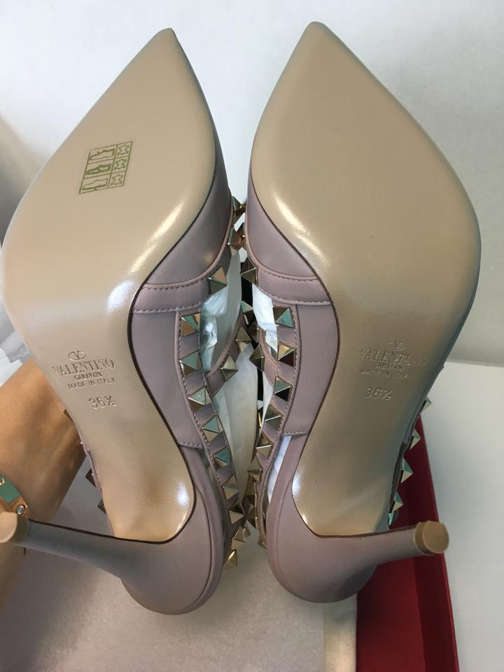 81e60dc28483 Valentino Poudre Nude Classic Rockstud Embellished Matte Leather Point-toe  Cage Heels Pumps Size EU 36.5 (Approx. US 6.5) Regular (M