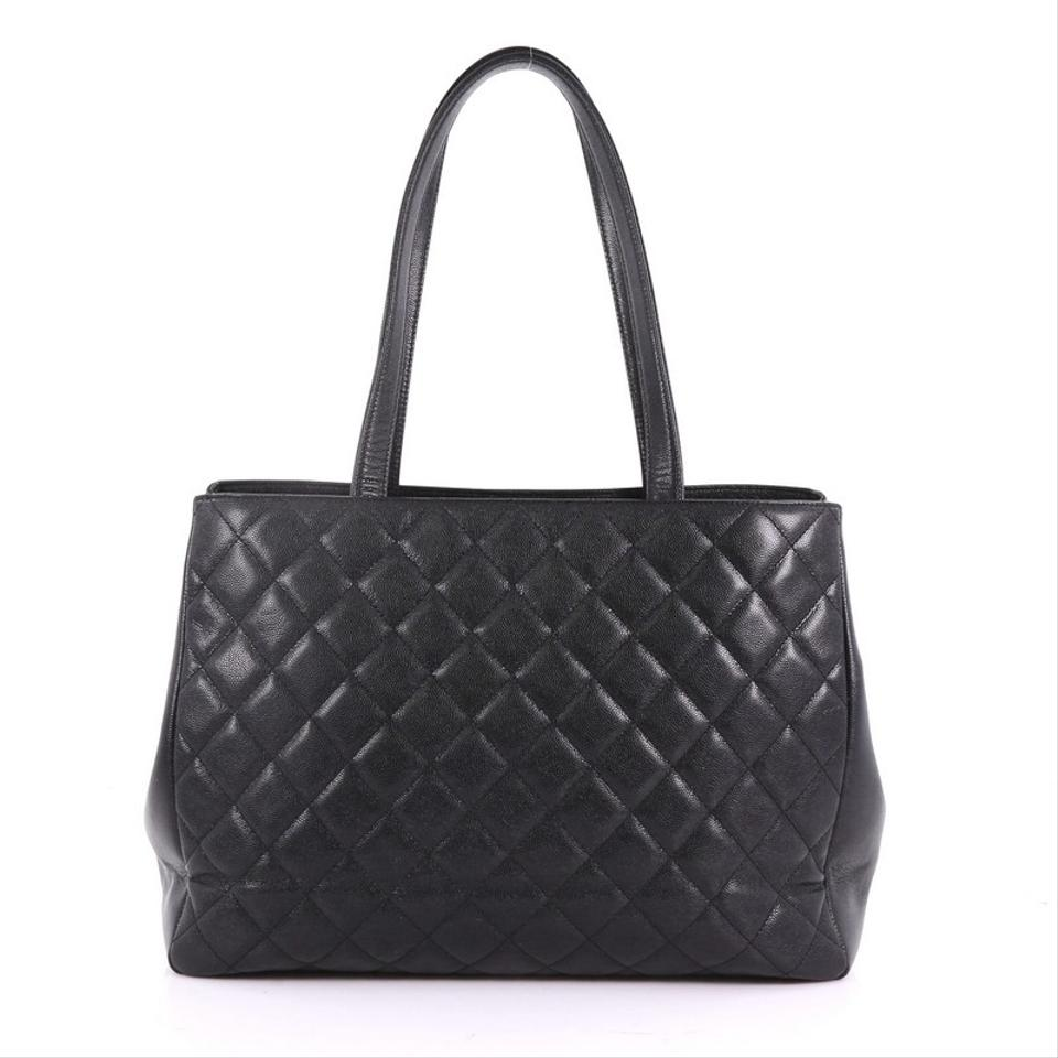 b01ccf4e439b Chanel Business Affinity Quilted Large Black Caviar Tote - Tradesy