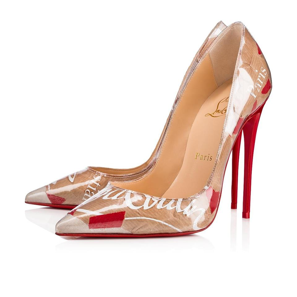 buy popular 93d36 be5cf Christian Louboutin Nude So Kate 120 Red Loubi Kraft Patent Pvc Stiletto  Classic Heel Pumps Size EU 37 (Approx. US 7) Regular (M, B)