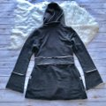 Lucy Love Charcoal Gray Hooded Cardigan Sweater Image 2