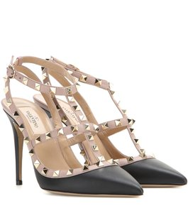 a18c91ff404d Valentino Rockstuds Heels Black Pumps · Valentino. Black Classic Rockstud  Colorblock Matte Leather Strappy ...
