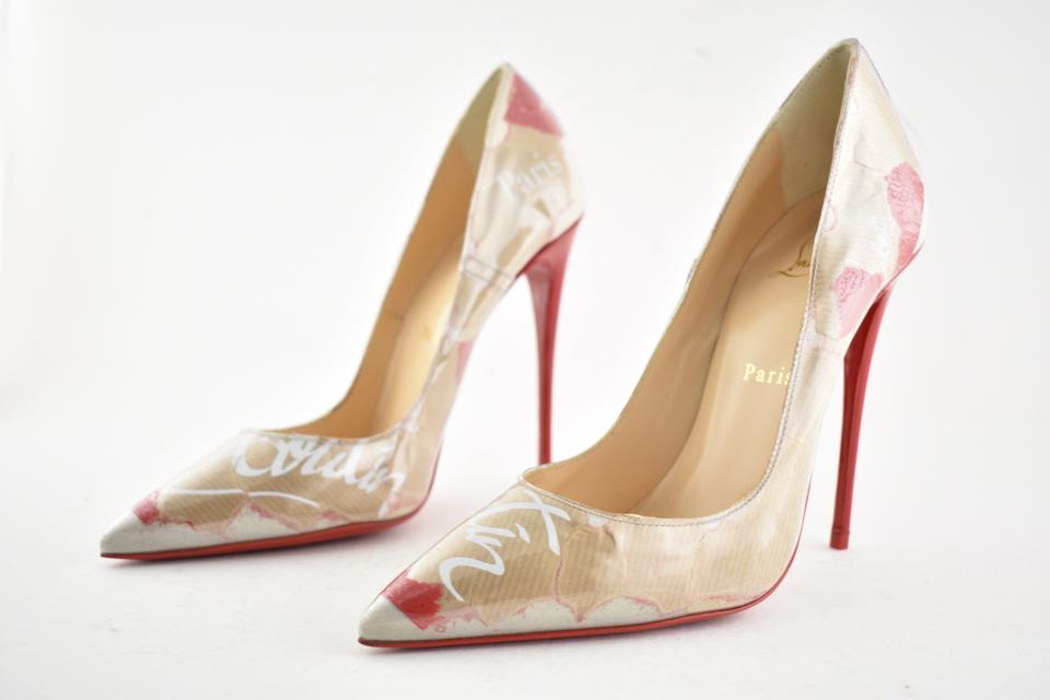 7f489946e5b7 Christian Louboutin Nude So Kate 120 Red Loubi Kraft Patent Pvc Stiletto  Classic Heel Pumps Size EU 38.5 (Approx. US 8.5) Regular (M