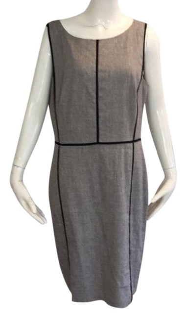 Item - Taupe/Grey/Black Mid-length Work/Office Dress Size 10 (M)