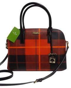 Kate Spade Small Rachelle Plaid Satchel in Red and Black