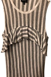 Who What Wear x Target Top black and white striped