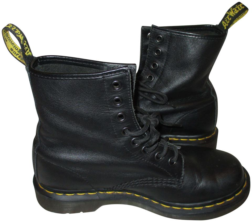 926325bba23e Dr. Martens Black Leather Lace Up Boots Booties Size US 7 Regular (M ...