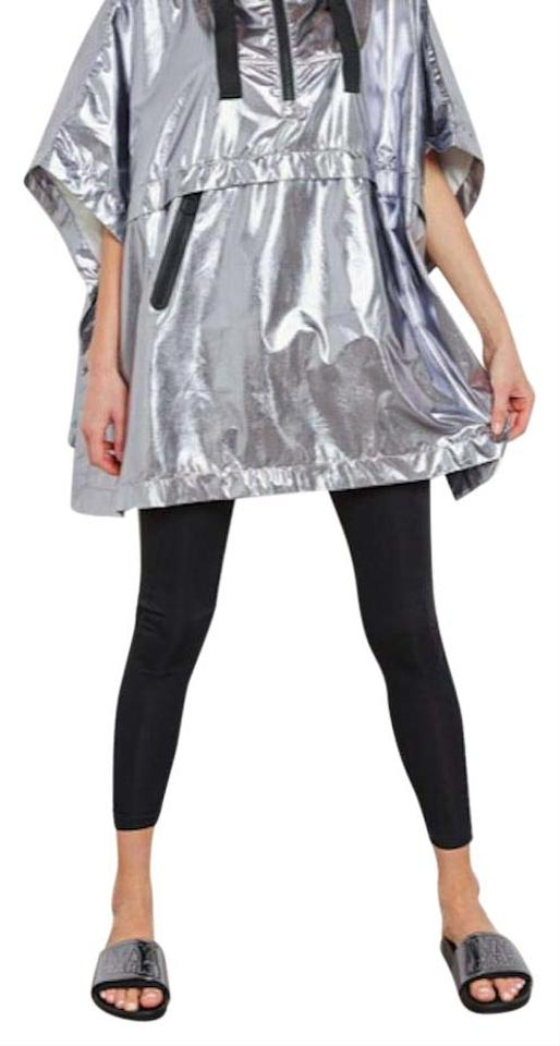 961f3bf9b8800 Ivy Park Silver Cross Back Shimmer Poncho Raincoat Activewear Size ...
