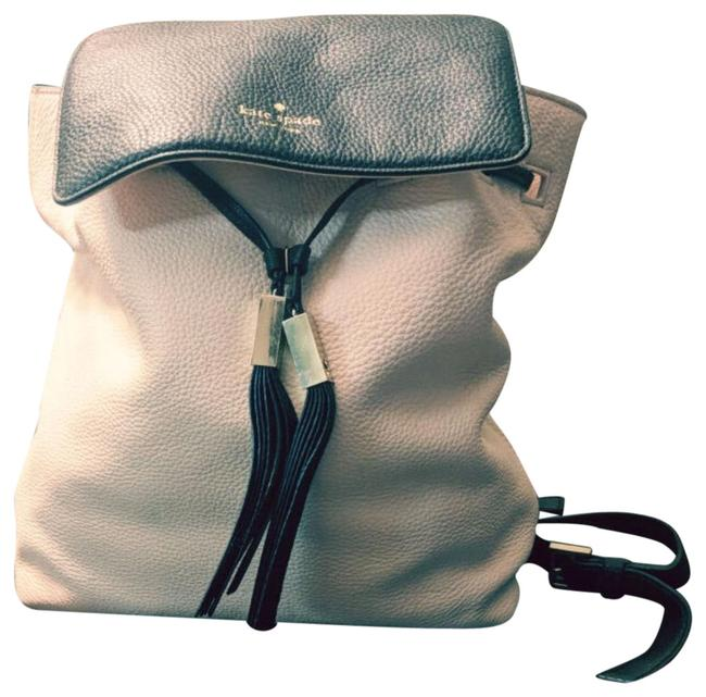 Item - Light Pink and Black Leather Backpack