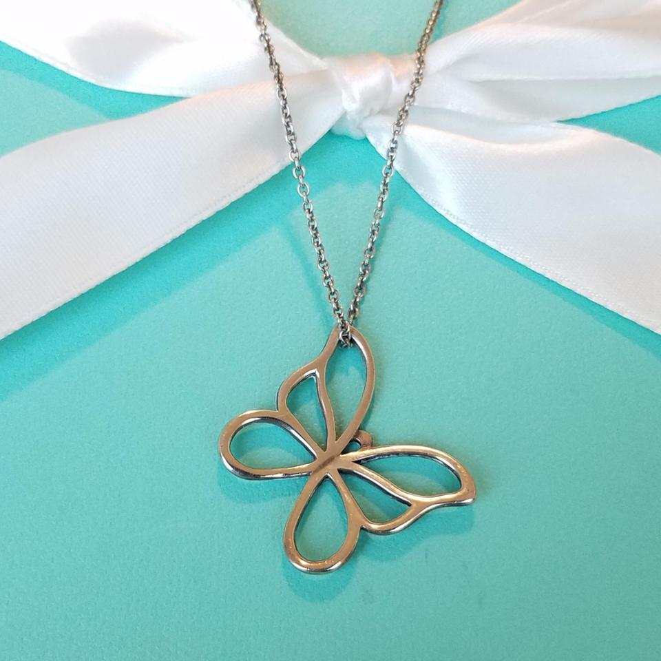 63a659ecc Tiffany & Co. Retired Large Butterfly Pendant Necklace - Tradesy