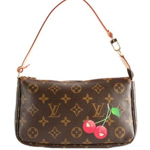 Louis Vuitton Pochette Murakami Limited Edition Wristlet in Brown/Red