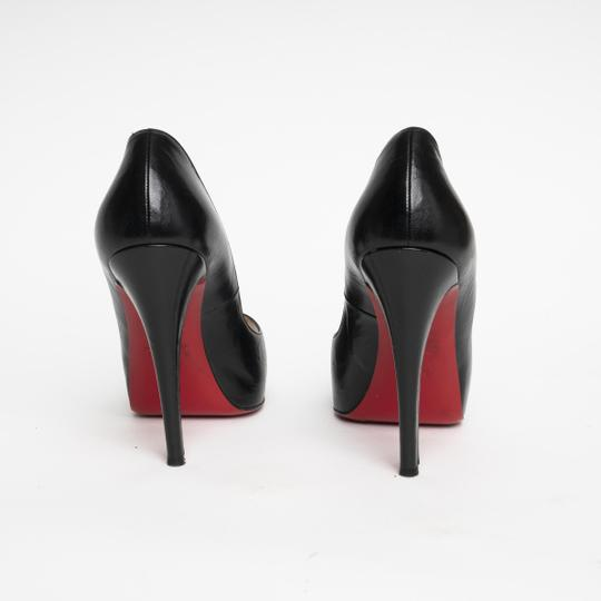 c7195cc97deb ... Christian Louboutin Very Prive Red Bottom Red Sole Open Toe Heel Black  Pumps Image 1
