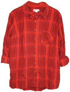 Ava & Viv Plussizeshirt Plussizeplaidshirt Plaidtop Ava&vivshirt Redplaidshirt Button Down Shirt Red