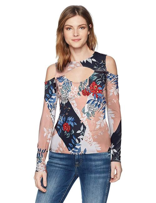 Item - Multicolor XS Women's Long Sleeve Antonia Cut Out Blouse Size 0 (XS)
