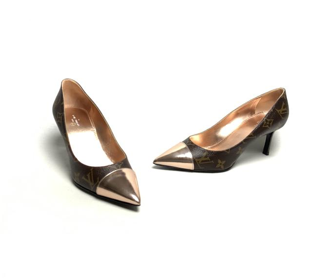 Item - Brown and Rose Gold Cherie Pumps Size EU 37.5 (Approx. US 7.5) Regular (M, B)