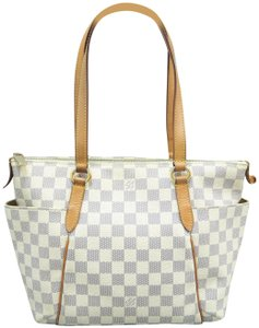 Louis Vuitton Lv Totally Canvas Damier Azur Shoulder Bag
