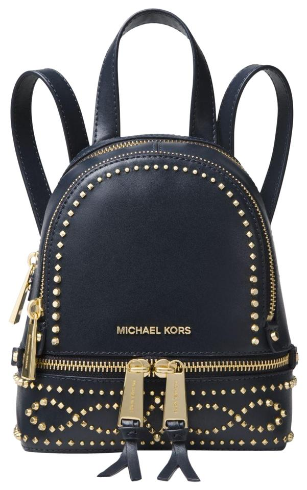 86da054d5ea97f Michael Kors Rhea Mini Studded 30f8gezb1u Admiral Blue Leather ...