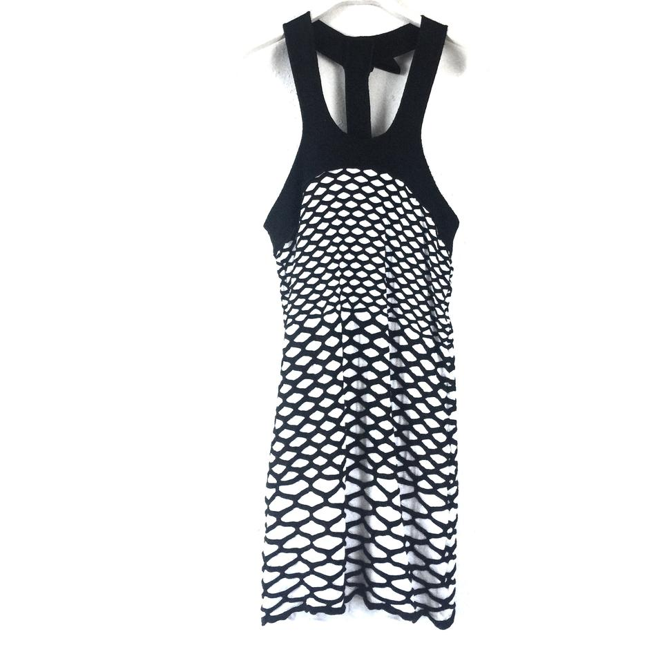 a529a505a1ce5 M Missoni Black White Scale Short Casual Dress Size 4 (S) - Tradesy