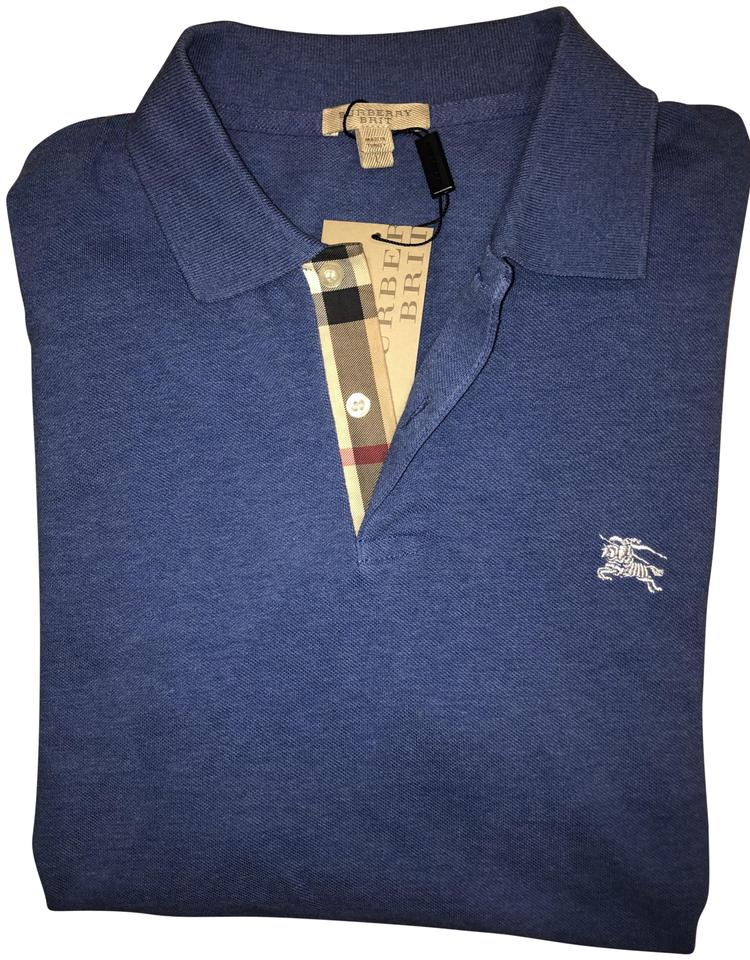 4534dc4be319 Burberry Blue Mens Hartford Regular Fit Polo Tee Shirt Size 14 (L ...