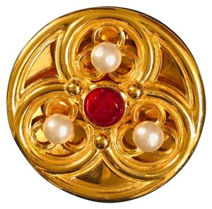 Chanel Chanel Gold Large Brooch Pin