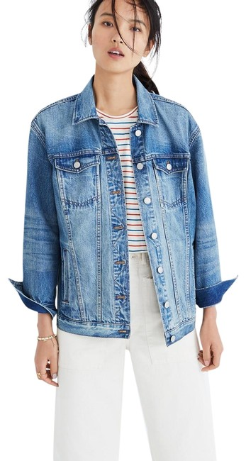 Item - Blue Oversized Jean Jacket Size 4 (S)
