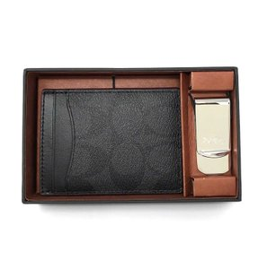 Coach Coach Men's Card Case Gift Set In Signature Shadow Boxed Money Clip