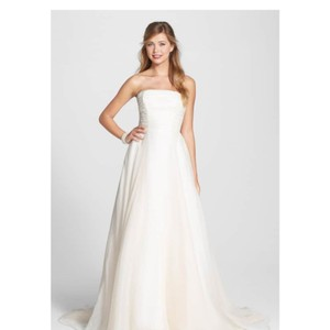 Anne Barge Paquita Silk Organza Gown Traditional Wedding Dress Size 12 (L)