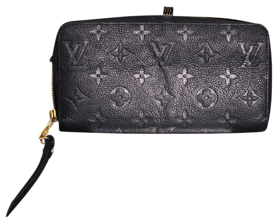 Louis Vuitton Authentic LOUIS VUITTON Black Empreinte Zippy Wallet ... 6f653d84b