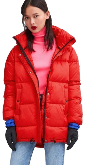 Item - Red Sorona Dupont Puffer Jacket Coat Size 4 (S)