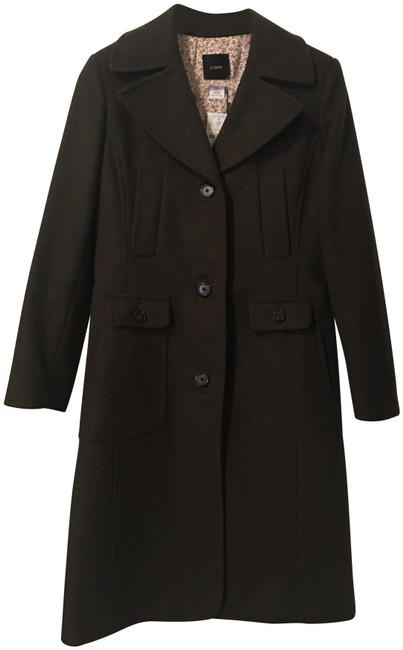 Item - Olive Green Wool Blend Long Single Breasted Coat Size 0 (XS)