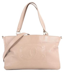 Chanel Leather Tote in beige