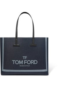 Tom Ford T New Leather Tote in black, navy, gray