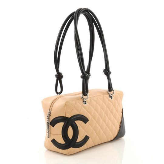 c57dd3ad72 Chanel Cambon Bowler Quilted Medium Beige Leather Shoulder Bag - Tradesy