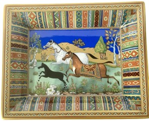 Hermes Herms Cheval d'Orient Porcelain Change tray