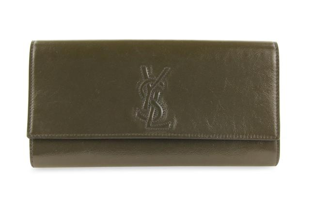 Item - Belle de Jour Small Olive Green Leather Clutch