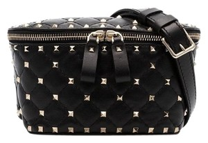 Valentino Rockstud Belt Rockstud Belt Spike Satchel in Black