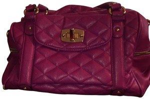 Merona Satchel in Fuchsia/Purple blend