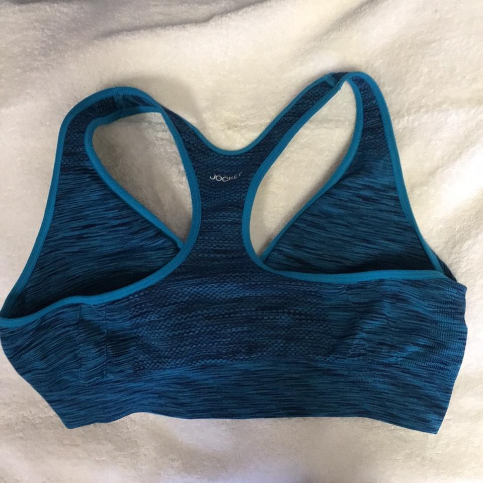 high quality exclusive range release info on Jockey Blue and Black Activewear Sports Bra Size 12 (L) 47% off retail