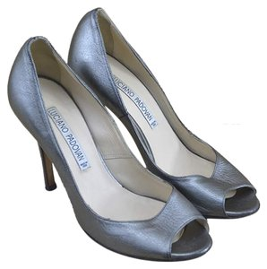 Luciano Padovan Fall Holiday Winter Night Out Silver Pumps