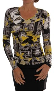 Versace Jeans Collection Women's D60528-3 Black Baroque Sweater