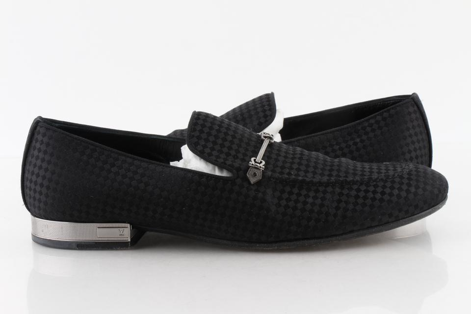 423eee753a07 Louis Vuitton Black Suede Bank Loafers Shoes Image 0 ...